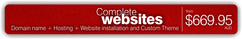 Websites from $669.95 complete