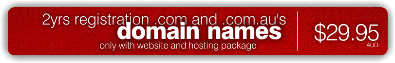 Domain names $29.95 every 2yrs