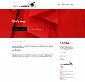New website designs with customising built in